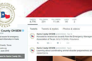 Top 17  Harris County Twitter accounts - Photo