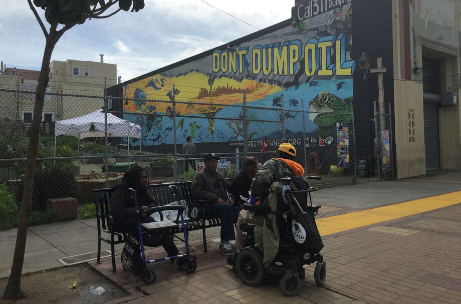 A mural unveiled Thursday in the San Francisco's Bayview district aims to bring attention to illegal motor oil dumping in the neighborhood.
