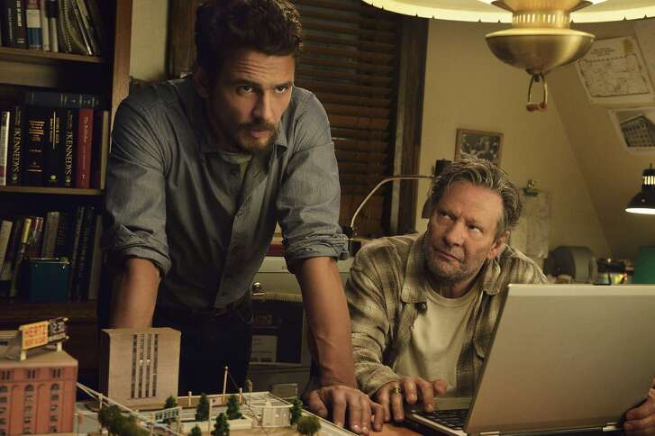 """This image released by Hulu shows James Franco as Jake Epping, left, and Chris Cooper as Al Templeton in a scene from the eight-part series, """"11.22.63,"""" streaming on Hulu beginning Monday, Feb. 15, 2016. (Ben Mark Holzberg/Hulu via AP)"""