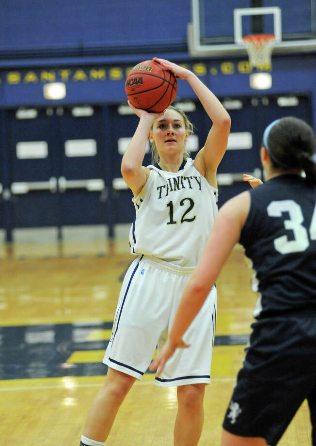 Mackenzie Griffin, a Stamford native, recently scored her 1,000th career point at Trinity College. Photo: Trinity College /Contributed Photo / Trinity College /Contributed Photo / Stamford Advocate Contributed