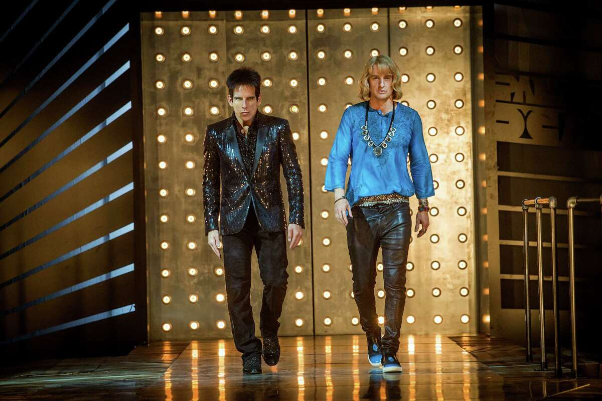 Left to right: Ben Stiller plays Derek Zoolander and Owen Wilson plays Hansel in Zoolander 2 from Paramount Pictures.