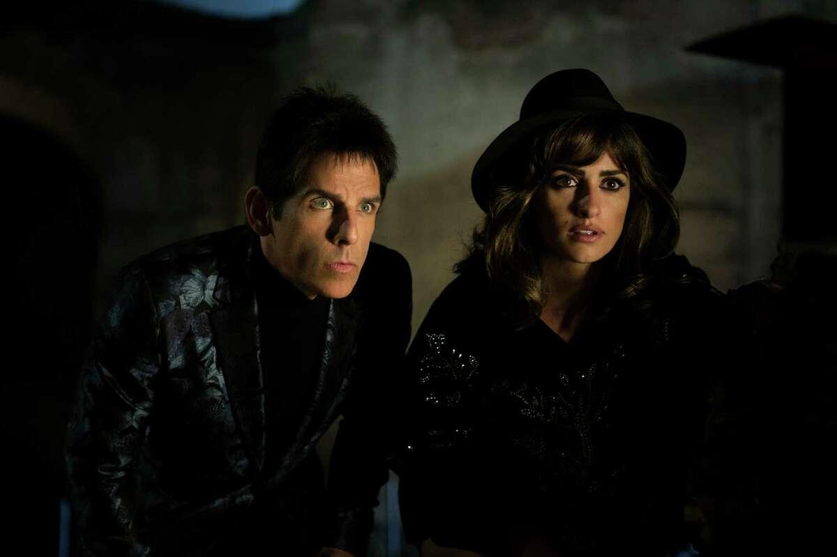 Ben Stiller plays Derek Zoolander and Penelope Cruz plays Valentina Valencia in Zoolander No. 2 from Paramount Pictures.