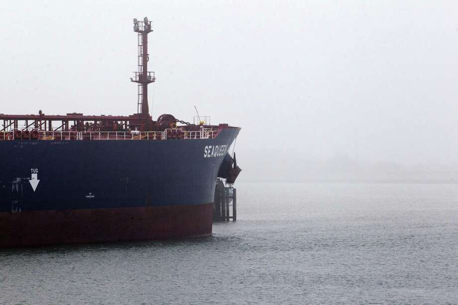 As onshore storage rises toward full capacity, the market is slowly moving into super-contango territory — when one-year forward prices trade at a premium of $10 a barrel or more. This opens the door for more costly floating storage, according to traders and analysts. Photo: Jeroen Jumelet /AFP / Getty Images / AFP or licensors