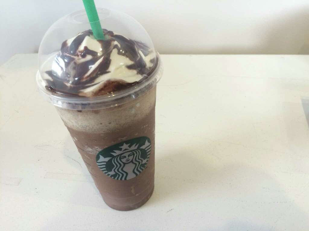 The Molten Chocolate Frappuccino, Which Sadly Did Not Come With The  Mocha Espresso Whipped