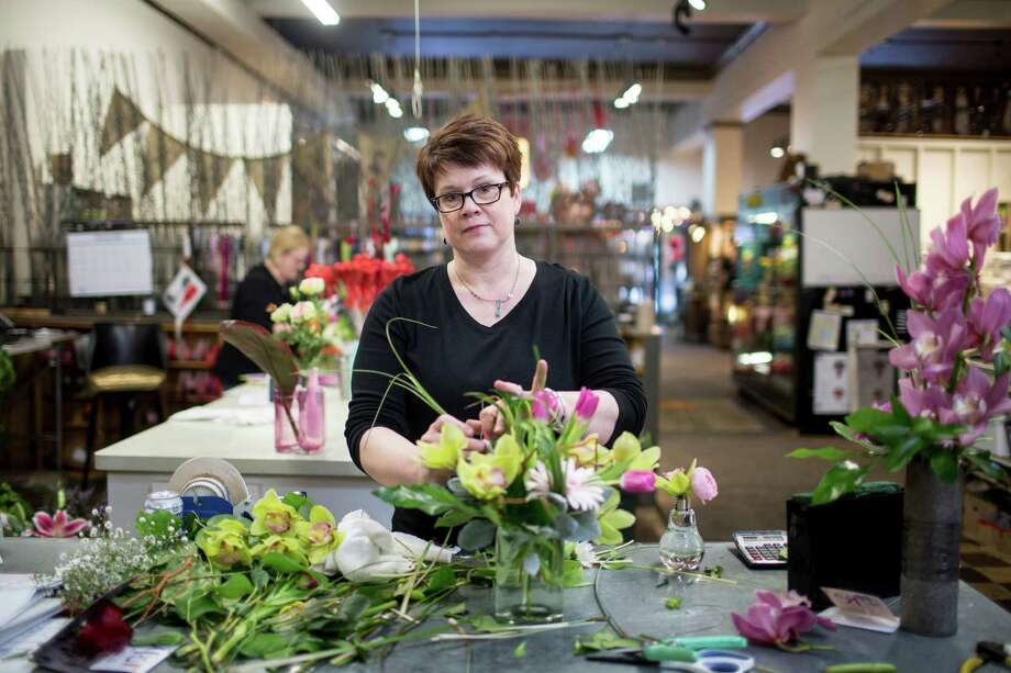 Rhoda Paurus, owner of St. Cloud Floral, recently switched her website's e-commerce system from Teleflora's to one run by BloomNation. Photo: Jenn Ackerman /New York Times / NYTNS