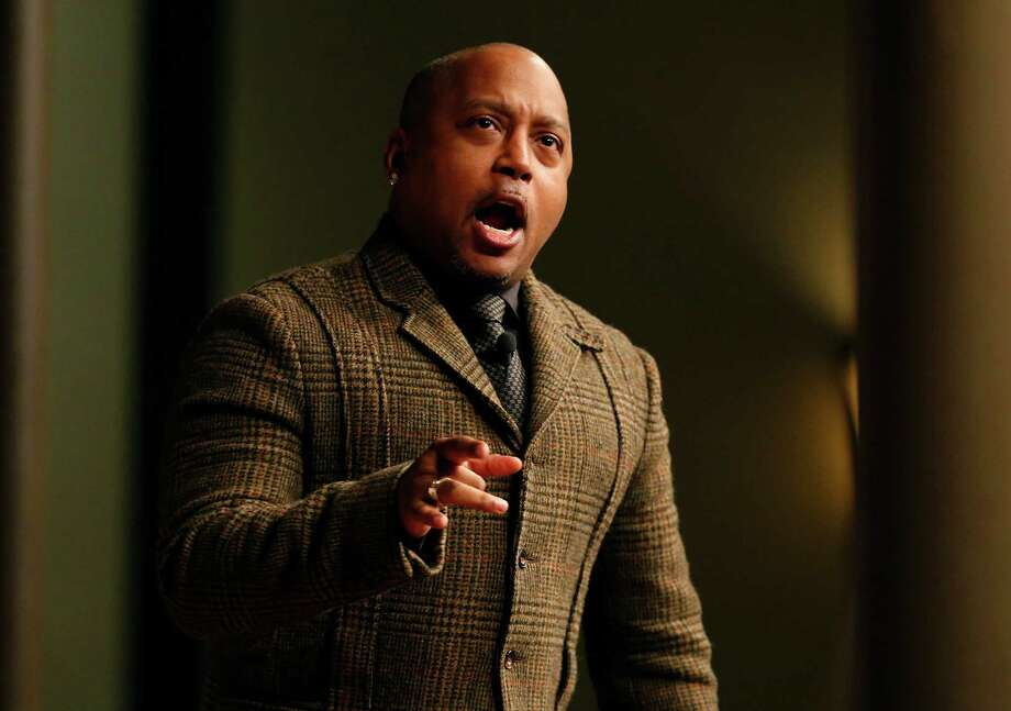 Daymond John, founder and CEO of FUBU Clothings and star on ABC-TV show Shark Tank, presents at the Forum on Entrepreneurship breakfast series at the Pearl Stable on Thursday. Photo: Kin Man Hui /San Antonio Express-News / ©2016 San Antonio Express-News