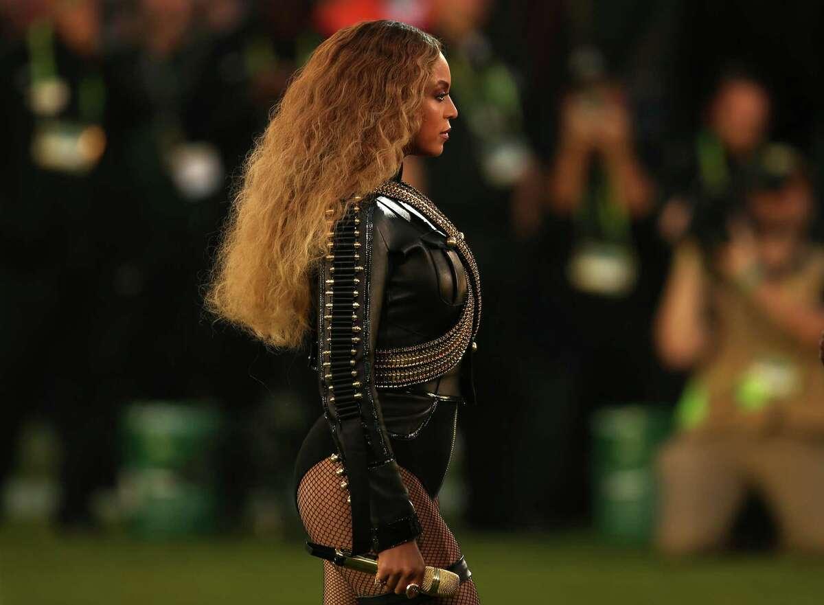 Beyonce during Super Bowl 50 halftime.