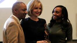 "Harris County DA Devon Anderson receives an award at the NAACP Houston Branché¢Ã©""é´s Alex Award Ceremony at the Crowne Plaza Hotel  Thursday, Feb. 11, 2016.( Karen Warren / Houston Chronicle )"