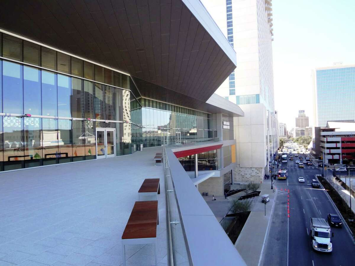 The Convention Center deck over Market Street has great views of downtown, and can be used for cocktail receptions and other events.