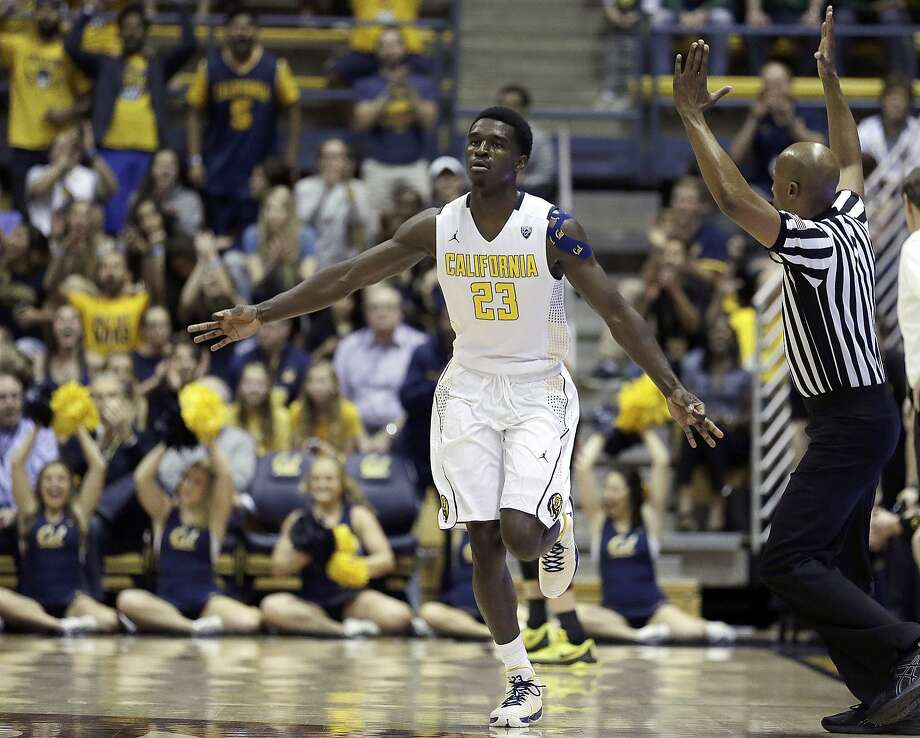 California's Jabari Bird celebrates a score against Oregon in the first half of an NCAA college basketball game Thursday, Feb. 11, 2016, in Berkeley, Calif. (AP Photo/Ben Margot) Photo: Ben Margot, Associated Press