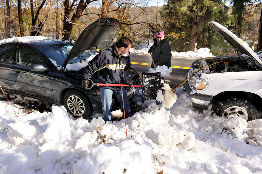Car batteries are often the first thing to die during extreme cold like Connecticut is experiencing on Feb. 12, 2016. Photo: Carol Kaliff / Carol Kaliff / The News-Times