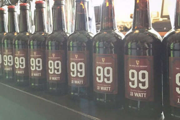 The Open Gate Brewery in Dublin brewed a special batch of beer for Houston Texans star J.J. Watt.