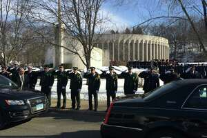 Hundreds honor fallen Derby firefighter - Photo