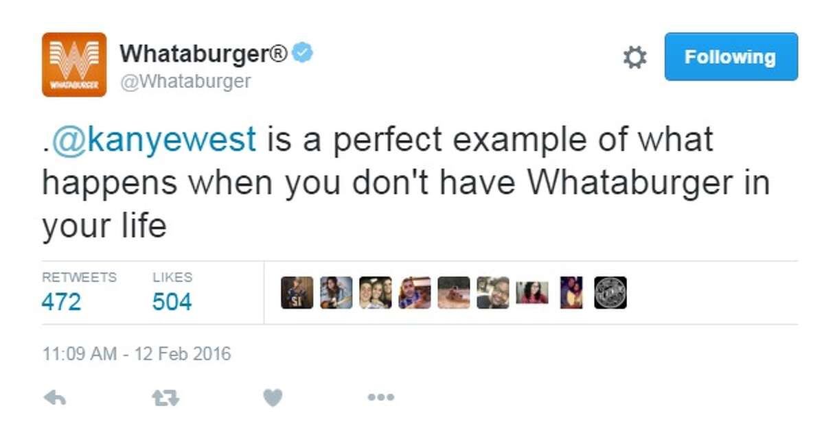 Kanye West may find his latest Twitter beef with Whataburger, pun intended.