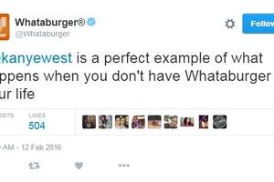 Whataburger blasts Kanye West on Twitter - Photo