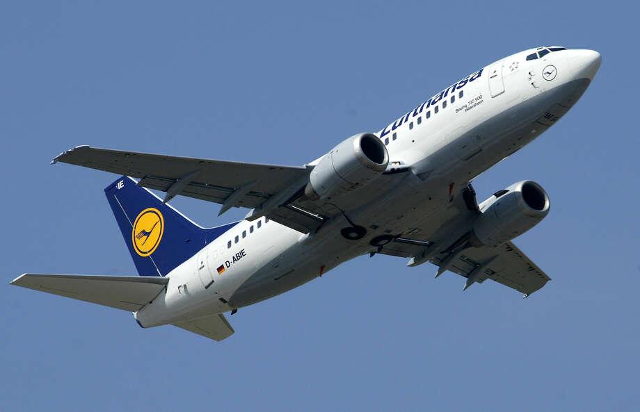 A Lufthansa flight from Houston to Germany made an emergency landing in New York on Monday night. Photo: Michael Sohn, AP / AP