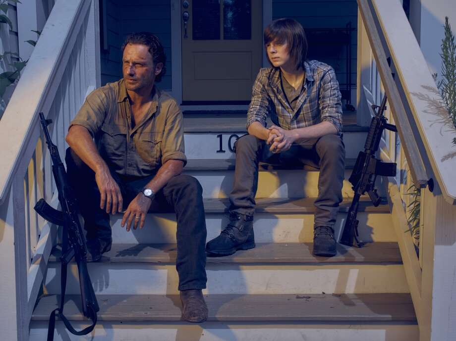The second half of the sixth season of  The Walking  Dead begins Sunday, February 14th at 8/9 p.m. on AMC. (The perfect way to spend Valentine's Day!) Here's a look back on what happened in the first half of the season. Photo: Frank Ockenfels 3/AMC