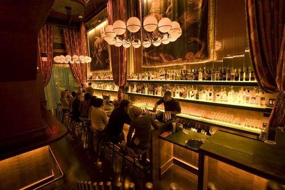 Patrons sit at the bar at Gitane Restaurant at 6 Caude Lane in San Francisco, Calif. Photographed on Saturday, Jan. 3, 2009.