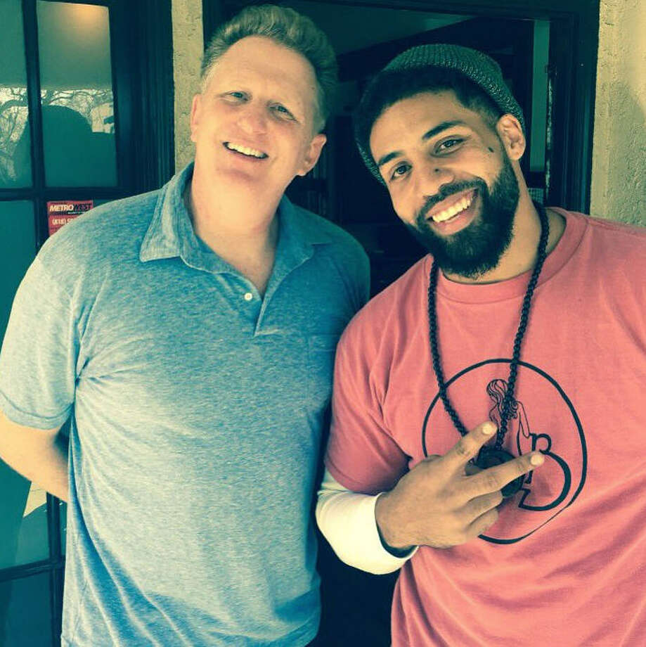 Arian Foster joined actor Michael Rapaport for a podcast this week. Photo: Twitter