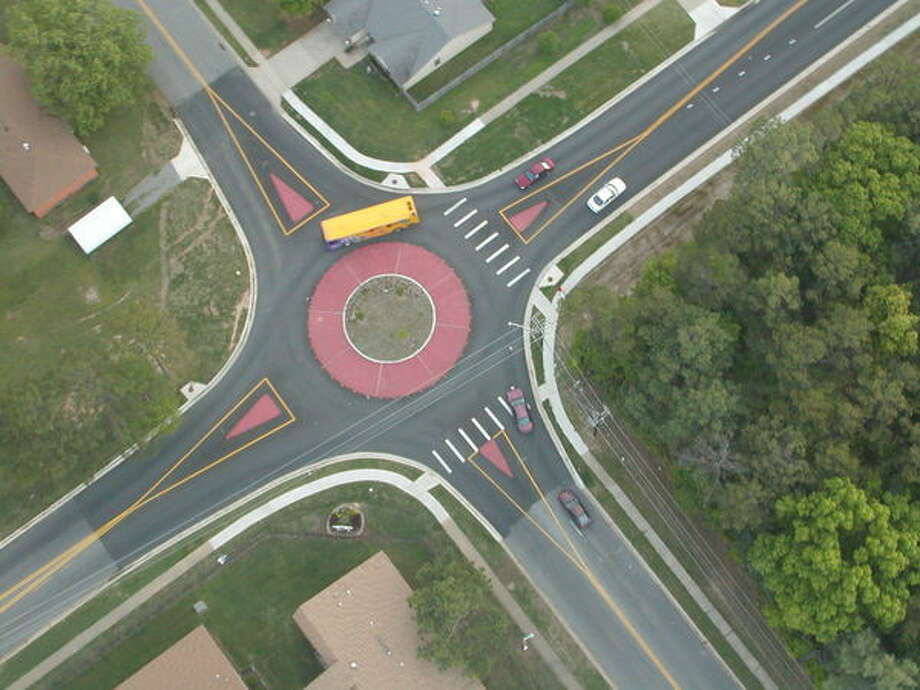 An information meeting on the Modern Roundabout to be constructed at Still River Drive will be Feb. 18 at 6 p.m. in New Milford's Town Hall. Photo: / Contributed