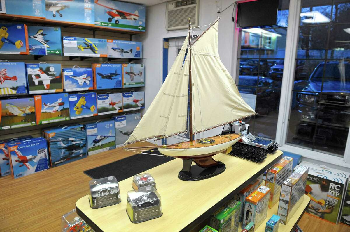 One of the wooden ship models available for sale at the Danbury Hobby Center's Hobby Shop. Thursday, February 11, 2016, in Danbury, Conn.