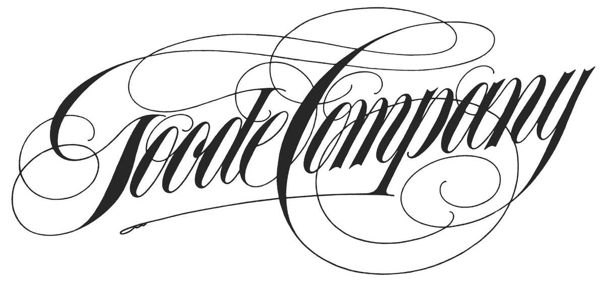The calligraphy for the original Goode Company logo created by Jim Goode, a commercial graphic artist and backyard barbecue aficionado who founded Goode Company Barbecue.