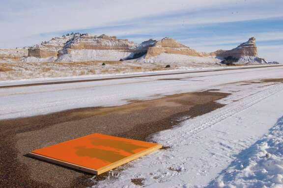 """Nick Vaughan and Jake Margolin's """"Fifty States: Wyoming"""" at Art League Houston will be on view through Feb. 27."""