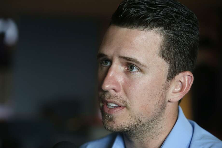 Catcher Buster Posey meets with sports reporters at AT&T Park in San Francisco, Calif. on Friday, Feb. 12, 2016, in advance of the Giants' annual FanFest event. Photo: Paul Chinn, The Chronicle