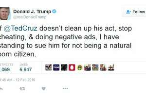 Donald Trump threatens to sue Ted Cruz over citizenship ahead of Republican South Carolina primary - Photo
