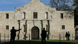 A view of the Alamo Monday Feb. 8, 2016.