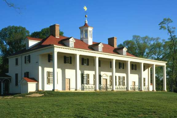 The east front of Mount Vernon. Martha Washington, broken-hearted, moved to the attic after George Washington died. Photo courtesy of the Mount Vernon Ladies Association