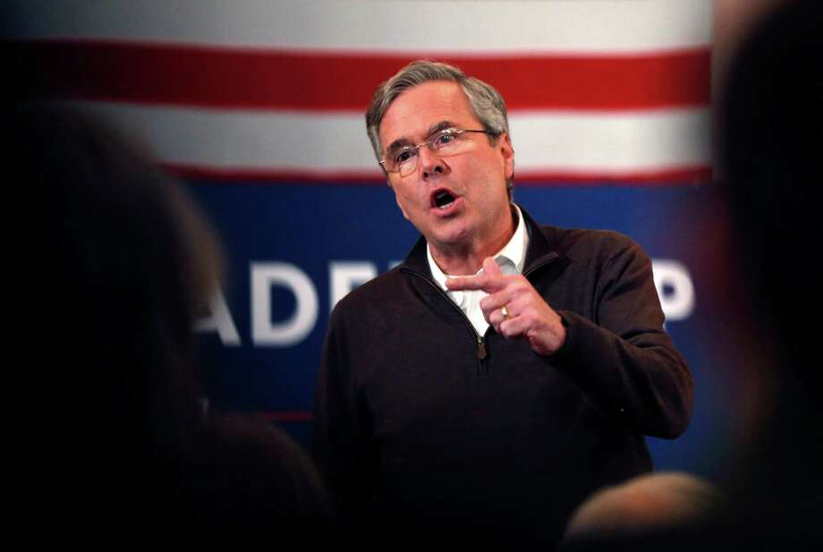 Republican presidential candidate, former Florida Gov. Jeb Bush, speaks at a campaign event, Monday, Feb. 8, 2016, in Portsmouth, N.H.  (AP Photo/Robert F. Bukaty) Photo: Robert F. Bukaty, STF / AP