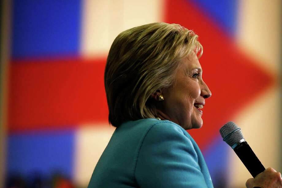 Democratic presidential candidate Hillary Clinton speaks during a campaign stop Monday, Feb. 8, 2016, in Hudson, N.H. (AP Photo/Matt Rourke) Photo: Matt Rourke, STF / AP