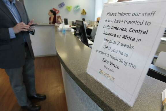 At local hospitals, including Legacy Community Health, visitors are told to inform staff about travel to countries where Zika has been confirmed.