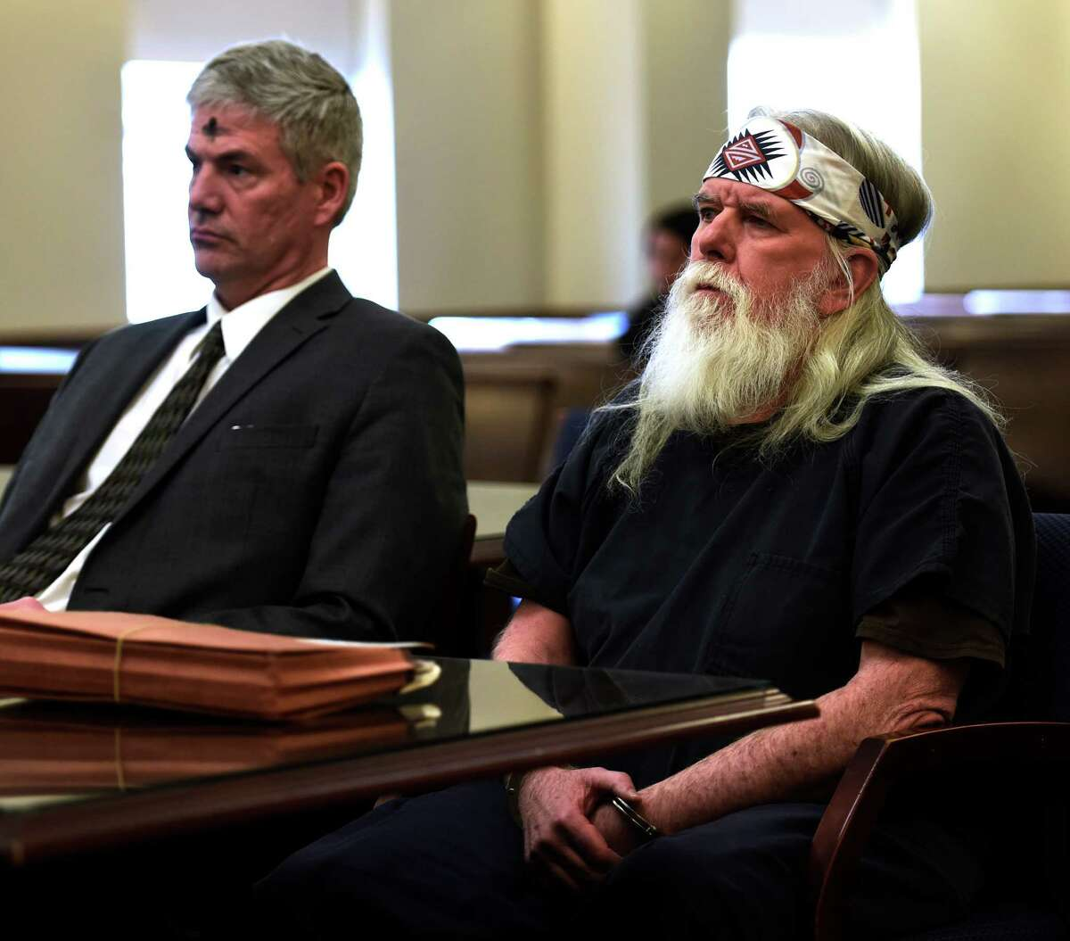 Defendant Joseph J. O'Hara, right, appears Tuesday afternoon with his attorney Paul Edwards in the courtroom of Judge Stephen W. Herrick at the Albany Judicial Center on Feb. 10, 2016, in Albany, N.Y. (Skip Dickstein/Times Union)