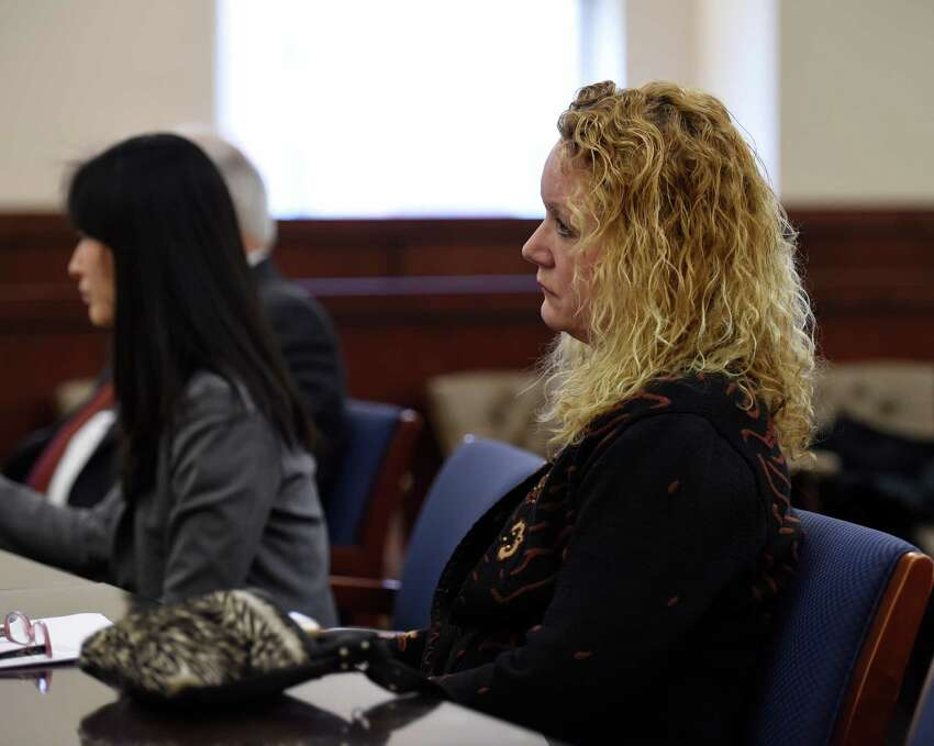 Defendant Barbara Bouchey, right, appears Tuesday afternoon in the courtroom of Judge Stephen W. Herrick at the Albany Judicial Center on Feb. 10, 2016, in Albany, N.Y. (Skip Dickstein/Times Union)