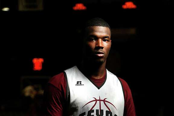 TSU basketball and football player Derrick Griffin poses for a portrait Wednesday, Feb. 10, 2016, in Houston. ( James Nielsen / Houston Chronicle )
