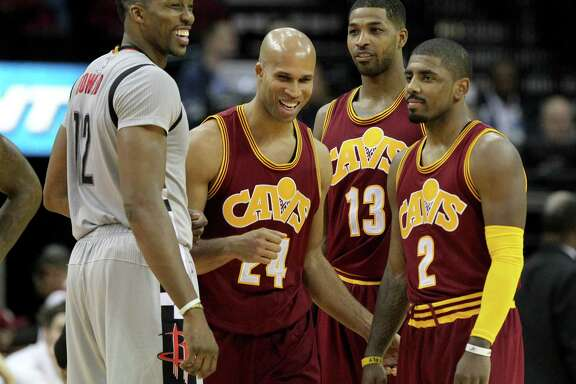 Rockets center Dwight Howard found the lighter side of being triple-teamed by the Cavaliers.