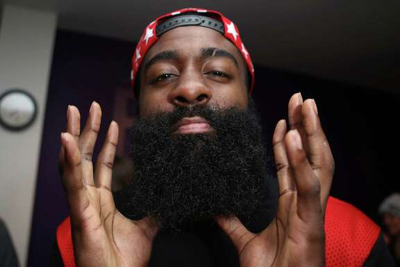 The beard is front and center as James Harden strikes a pose Friday in Toronto. He's hopeful the Rockets can turn it around after the All-Star break.