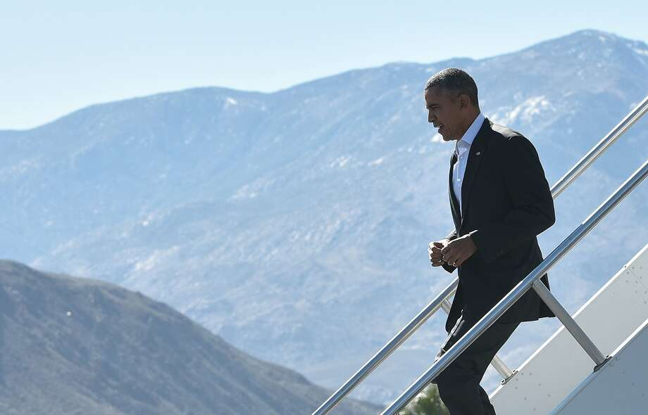 President Obama arrives in Palm Springs ahead of this week's talks with Southeast Asian nations. Photo: Mandel Ngan, AFP / Getty Images