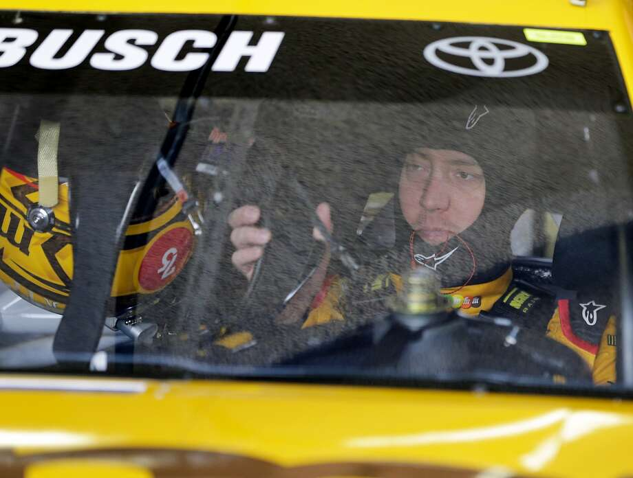 Kyle Busch prepares to go out on the track during a practice session Saturday for next week's NASCAR Daytona 500 at Daytona International Speedway. Photo: Terry Renna, Associated Press