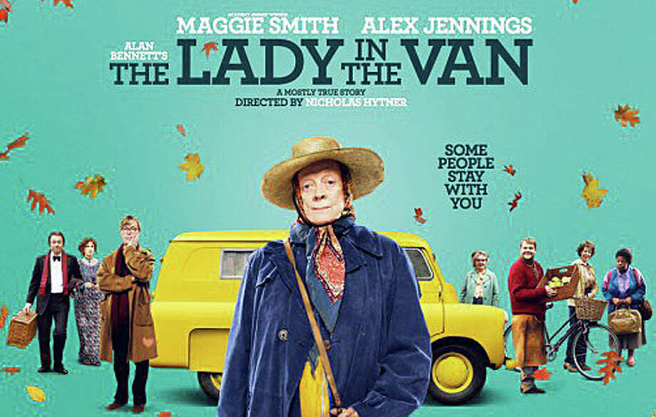 """The Lady in the Van"" is a new movie starring Maggie Smith as a bag lady who parks her van in the driveway of British playwright Alan Bennett. Photo: Contributed Photo / Contributed Photo / Westport News"