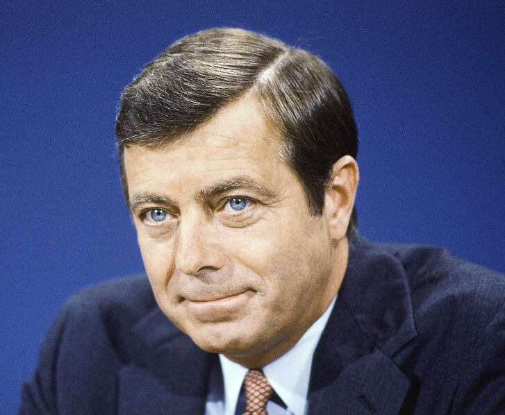 """File- This Aug. 9, 1981, file photo shows Secretary of transportation Drew Lewis on TV's """"Face the Nation"""". Lewis, a businessman who served as U.S. transportation secretary under President Ronald Reagan during the 1981 air traffic controllers' strike, has died. He was 84. His son, Andy Lewis, says Lewis died Wednesday in Arizona of complications from pneumonia. Lewis lived on a farm in the Philadelphia suburbs. (AP Photo/Scott Applewhite, File)"""