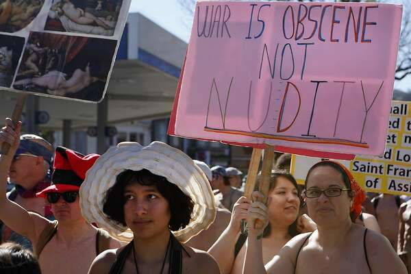 Nudists celebrate the Summer of Love in Castro - SFGate