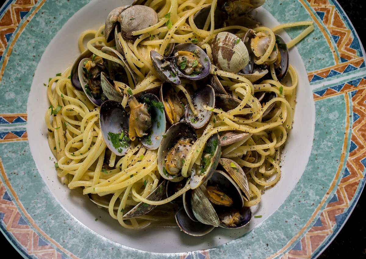 Linguine with clams at the Original U.S. Restaurant in North Beach.