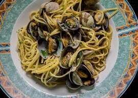 The Linguine with Clams at the Original U.S. Restaurant in San Francisco, Calif. is seen on Saturday, February, 13th, 2016.