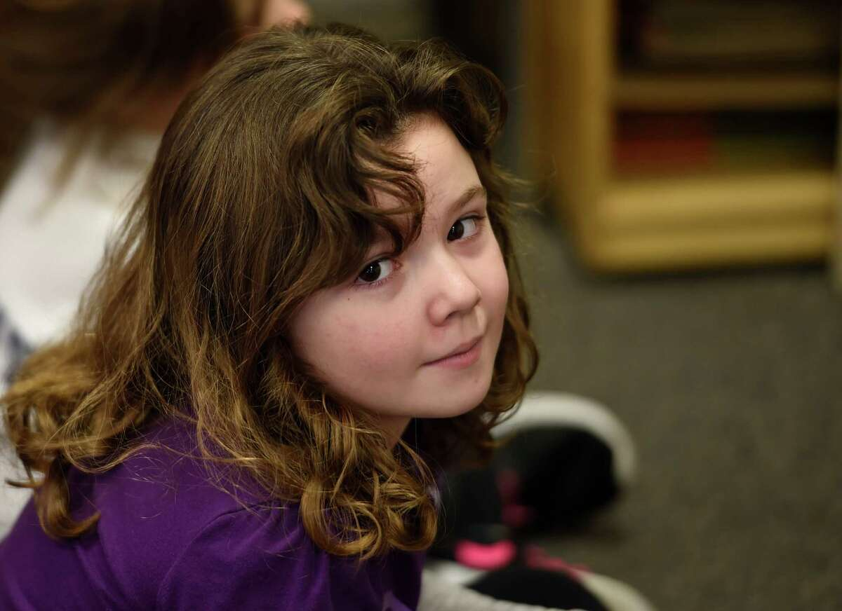 Makayla Stanley, a student in Bridget Quinlan's kindergarten class at the Abram Lansing Elementary School on Monday, Feb. 1, 2016, in Cohoes, N.Y. (Skip Dickstein/Times Union)