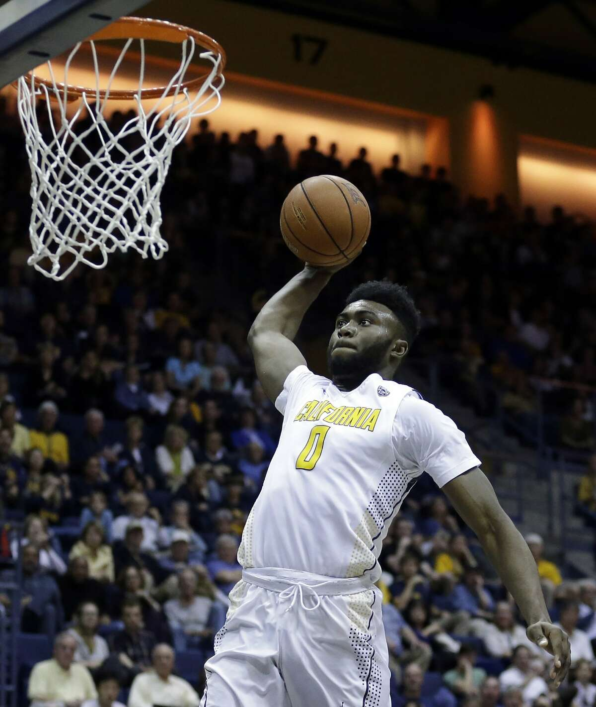 California's Jaylen Brown lays up a shot against Oregon State in the second half of an NCAA college basketball game Saturday, Feb. 13, 2016, in Berkeley, Calif. (AP Photo/Ben Margot)