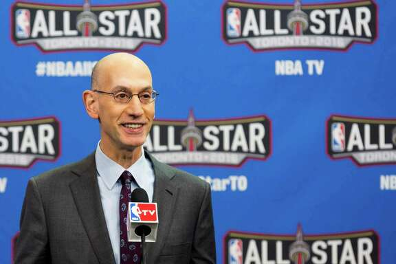 NBA Commissioner Adam Silver speaks before the NBA all-star skills competition in Toronto on Saturday, Feb. 13, 2016. (Mark Blinch/The Canadian Press via AP) MANDATORY CREDIT