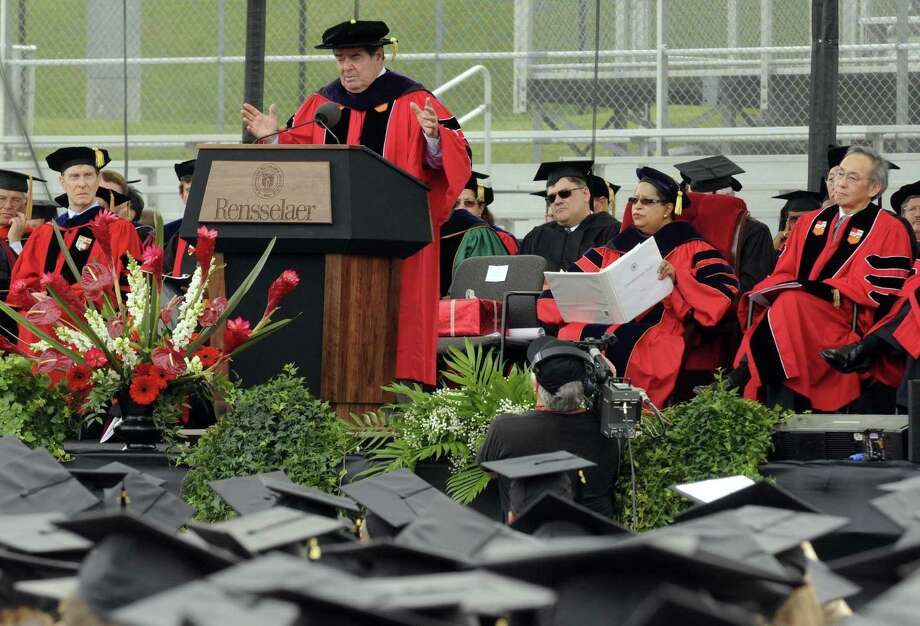 United States Supreme Court Justice Antonin Scalia gives remarks after being awarded an Honorary Doctor of Laws degree during Rensselaer Polytechnic Institute's 206th Commencement in Troy N.Y. Saturday May 26, 2012. (Michael P. Farrell/Times Union) Photo: Michael P. Farrell / 00017198A